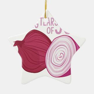 Tears Of Joy Ceramic Star Ornament