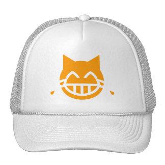 Tears of Joy Emoji Cat Trucker Hat