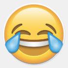 Tears of Joy emoji funny Classic Round Sticker