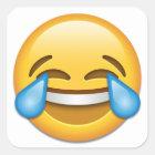 Tears of Joy emoji funny Square Sticker