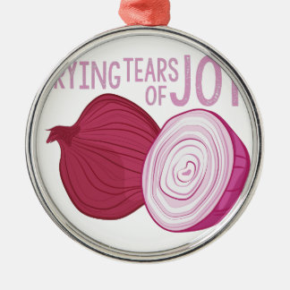 Tears Of Joy Silver-Colored Round Ornament
