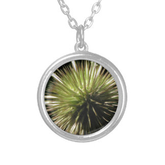 Teasel on display silver plated necklace