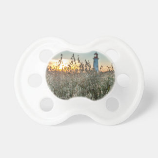 Teat of baby, photo headlight in fields pacifier