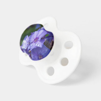 Teat of purple baby, flower pacifier
