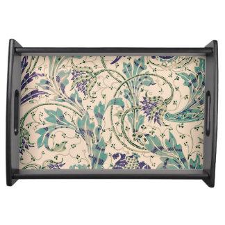 Teazle Flower Art Nouveau Serving Tray