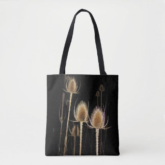 Teazles at Night Tote Bag