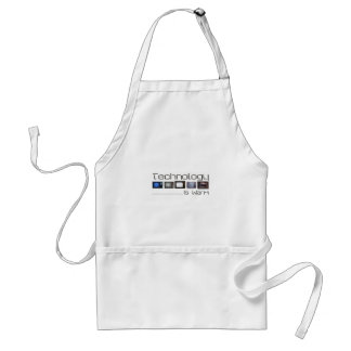 tech is warm standard apron