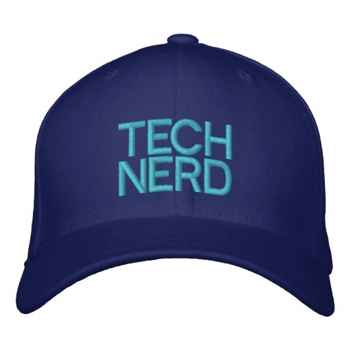 TECH NERD EMBROIDERED HATS