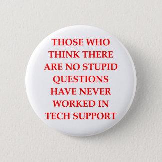 tech support 2 inch round button