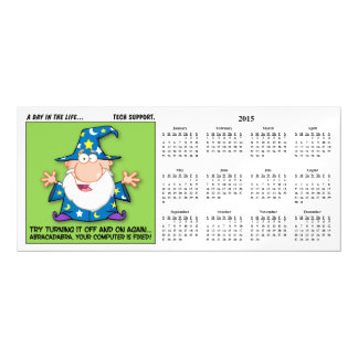 Tech Support Magic 2015 Calendar Magnetic Invitations