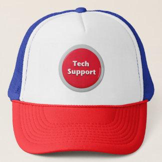 Tech Support Red Panic Button Trucker Hat