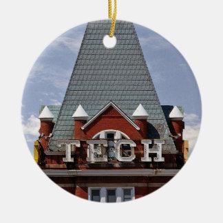 Tech Tower Christmas Ornament