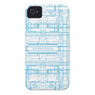 Techie circuit blueprint pattern iPhone 4/4s Case-Mate iPhone 4 Case