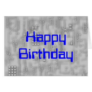 Techie HappyBirthday Card