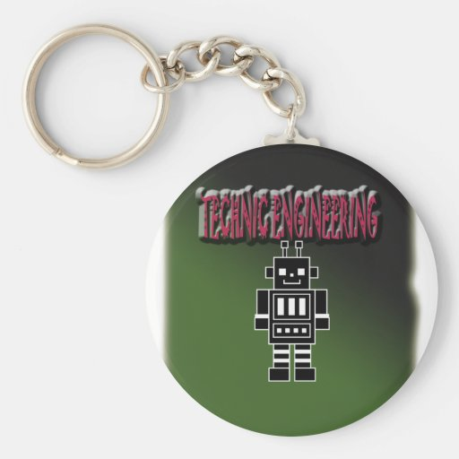 Technic Engineering with Background Key Chain