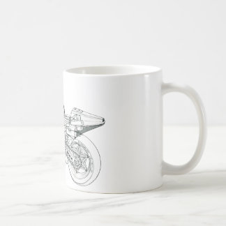 Technical drawing NSR 500 84 Coffee Mug