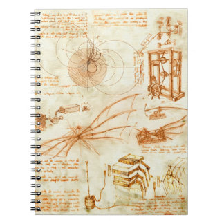 Technical drawing & sketches by Leonardo Da Vinci Notebooks