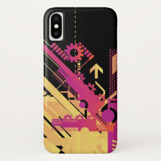 Technical halftone background 7 Case-Mate iPhone case