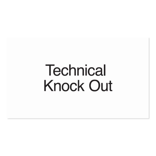 Technical Knock Out Business Card Templates