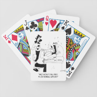 Technical Support Cartoon 6883 Bicycle Playing Cards