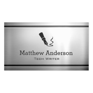 Technical Writer - Premium Stainless Steel Metal Pack Of Standard Business Cards