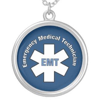 Technicien médical de secours pendentif rond