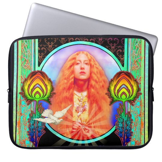 Technicolor Motor Home Peace Computer Sleeve