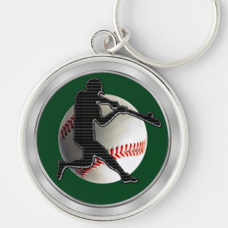 Techno Baseball Keychains Green or Your COLOR