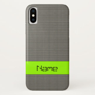 Techno Black (More Options) - iPhone X Case