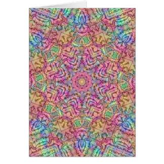 Techno Colors Kaleidoscope Card