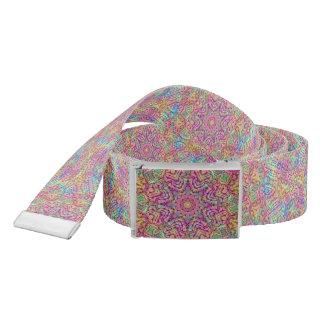 Techno Colors Kaleidoscope  Custom Belt