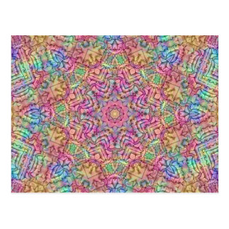 Techno Colors Kaleidoscope Postcards