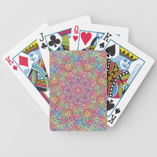 Techno Colors Pattern Bicycle® Poker Playing Cards