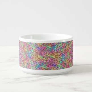 Techno Colors Pattern Chili Bowls Chili Bowl