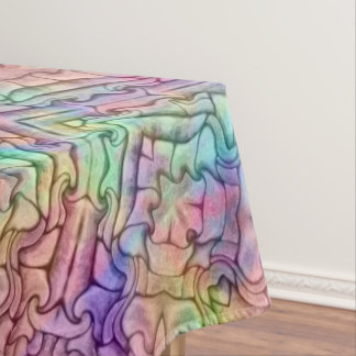 Techno Colors Pattern Cotton Tablecloth,  3 sizes Tablecloth