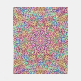 Techno Colors Pattern Custom Fleece Blanket 3 size
