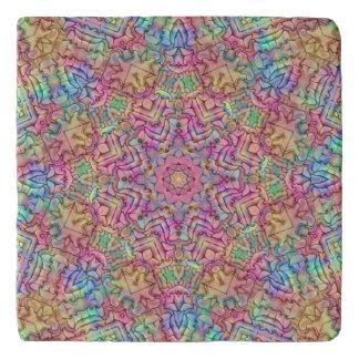 Techno Colors Pattern  Custom Stone Trivets