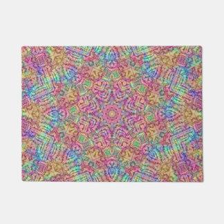 Techno Colors Pattern  Door Mats