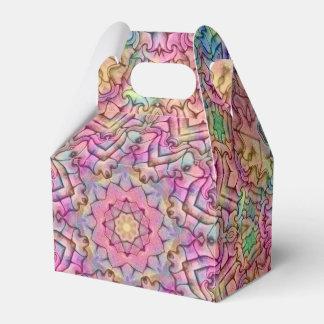 Techno Colors Pattern Gable Favor Boxes, 5 styles Favor Box