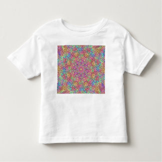Techno Colors Pattern Kids Shirts, many styles Toddler T-shirt