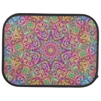 Techno Colors Pattern  Vintage Car Floor Mats rear