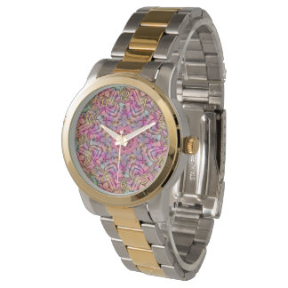 Techno Colors Pattern  Vintage Womens Watch