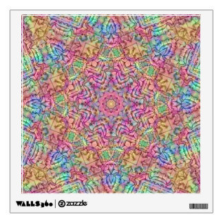 Techno Colors Pattern Wall Decals, many shapes Wall Sticker