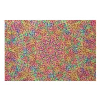 Techno Colors Pattern Wood Wall Art Wood Prints