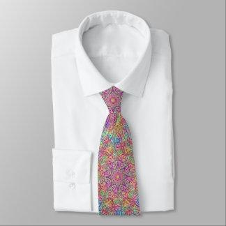 Techno Colors Tiled Tie