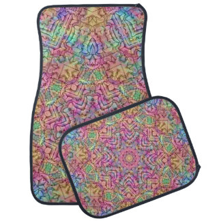 Techno Colors  Vintage Car Floor Mats set of 4