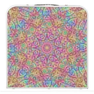 "Techno Colors Vintage Kaleidoscope  48"" Pong Table"