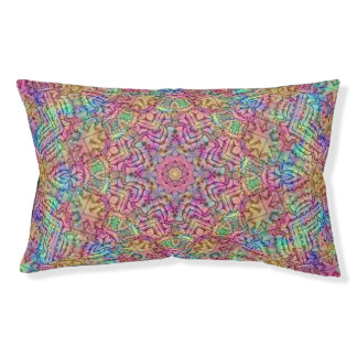 Techno Colors   Vintage Kaleidoscope Dog Bed