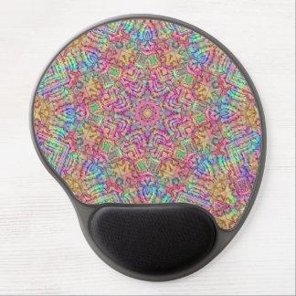Techno Colors  Vintage Kaleidoscope Gel Mousepad