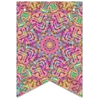 Techno Colors Vintage Kaleidoscope  Party Flags